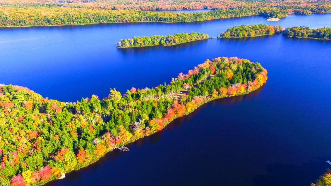 Ausgesuchte Parzellen auf einer Halbinsel am Wentworth Lake Nova Scotia Kanada